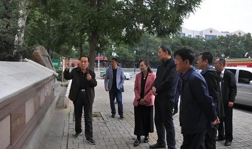 云南省保山市老干局在原平市爱心助学站调研指导工作
